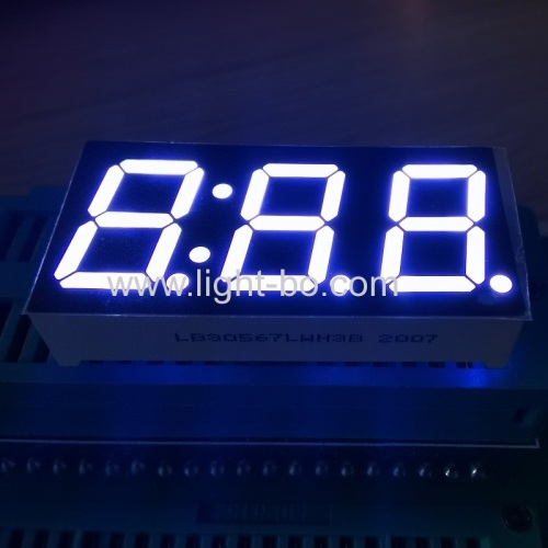 "Ultra White Triple Digit 0.56"" LED Clock Display Common Cathode for Washine Machine Control"