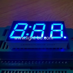 Ultra blue Three Digit 0.56inch 7 Segment LED Display common cathode for home appliances