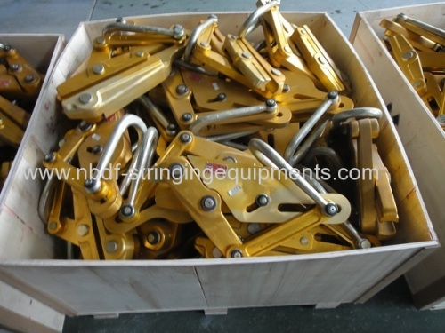 Automatic come along clamps for aluminum conductor
