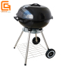 Portable Outdoor Backyard BBQ Kettle Charcoal Grill with Lower Shelf and Wheels