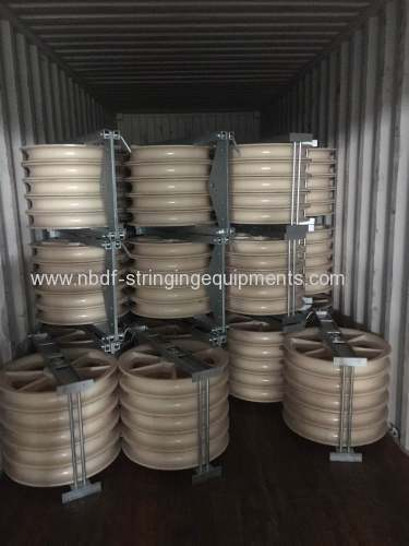 Conductor Pulleys exported for 220KV and 500KV transmission line stringing