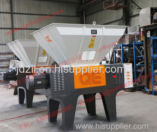 Heavy duty double Shaft Shredder Machine for waste plastic recycling