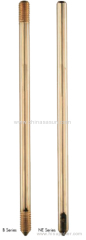 Copper Bond Earth Rod M14 X 1200MM Length with copper coupling drive head and earth clamp