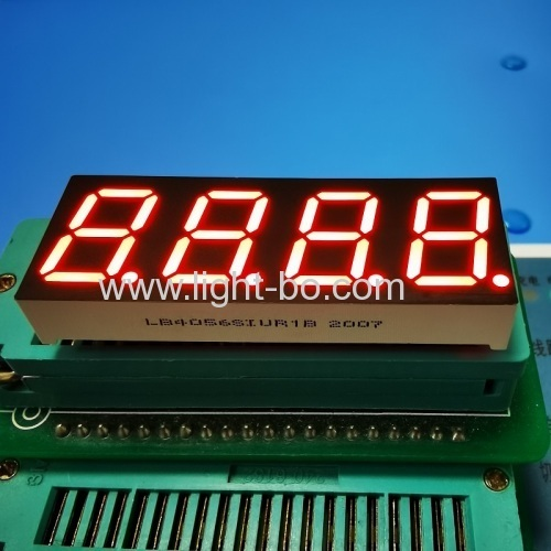 Ultra bright red 4 Digit 0.56inch 7 Segment LED Display Common Anode for Instrument Panel