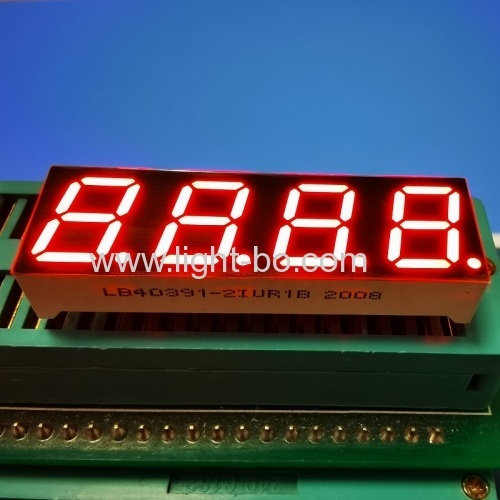 "Ultra Red 0.39"" 4 Digit 7 Segment LED Display Common Anode for temperature controller"