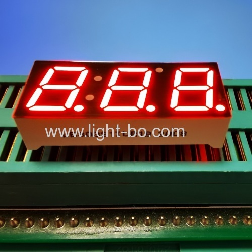 "Ultra bright red Triple Digit 0.39"" Common Anode 7 Segment LED Display for Temperature indicator"