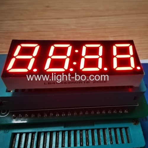 "Ultra Red 7 Segment LED Clock Display 4 Digit 0.56"" Common Anode For Home Appliances"