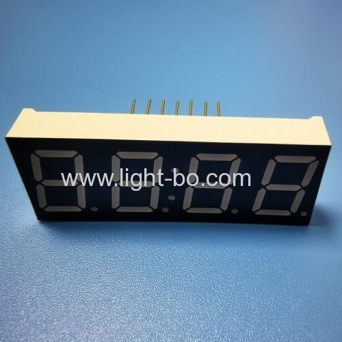 Four-Digit 0.56 inch (14.2mm) Common Anode Ultra Bright Amber 14 pins 7-Segment LED Display