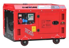 single cylinder diesel engine 7.5KW super silent diesel generator