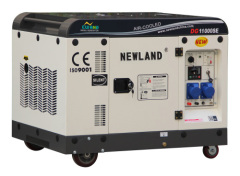 7.5KW super silent diesel generator powered by single cylinder diesel engine