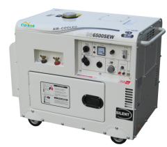 Silent diesel generator with welding function