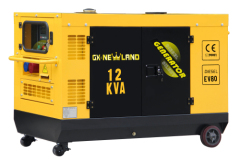 Water cooled silent diesel generator powered by EV80