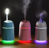USB Humidifier multi function three in one LED Night light small fan Mini USB water humidifier