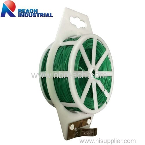 Garden Plant Climbing Vine Support Plastic Wire Reel Plant Twist Tie with Cutter