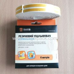 E-Profile Self-Adhesive Rubber Foam Seal Strip 6M(3mx2rolls)L White. EPDM-Profile Available.