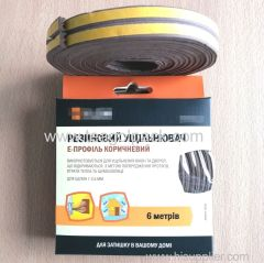 E-Profile Self-Adhesive Rubber Foam Seal Strip 6M(3mx2rolls)L Brown. EPDM-Profile Available.
