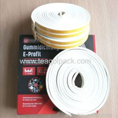 E-Profile Self-Adhesive Rubber Seal Strip 10M(5mx2rolls)L White. EPDM-Profile.