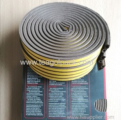 D-Profile Self-Adhesive Rubber Seal Strip 10M(5mx2rolls)L Brown.