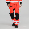 High visibility men's flame retardant cargo pants with knee pads