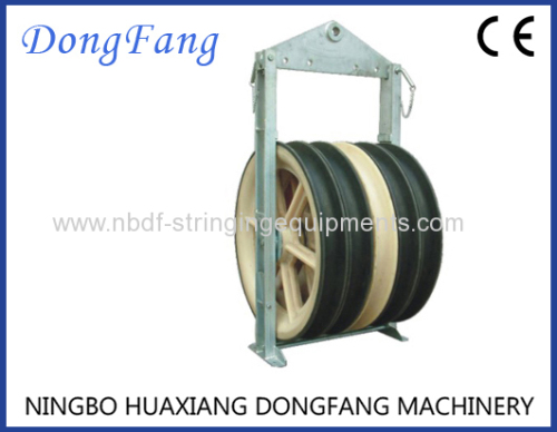822MM Overhead Transmission Lines Stringing Blocks with Nylon or Steel Sheaves