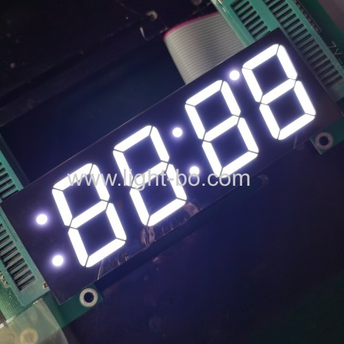 Ultra white Four Digits 1.2inch 7 Segment LED Display common Anode for Clock Indicator