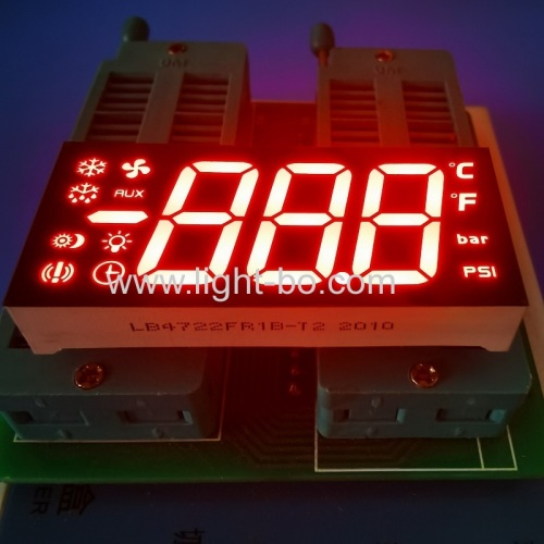 Super bright red 3 Digit 7 Segment LED Display with minus sign for Refrigerator Temperature control