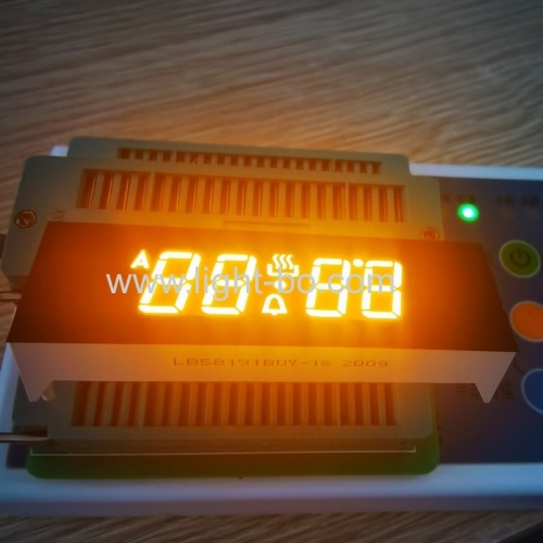Ultra bright Amber 4 Digits 7 Segment LED Display for Oven Timer Control