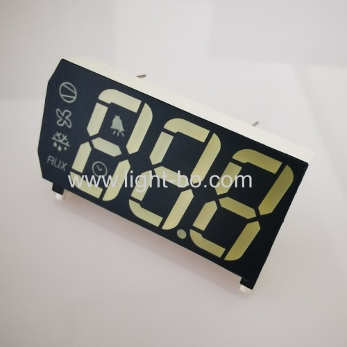 Ultra white & Pure Green 0.67inch Triple Digit 7 Segment LED Display for Refrigerator Control