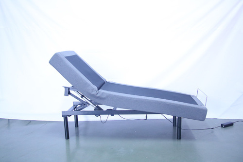 Recliner adjustable bed with led lighting adjustable legs with wireless handset modern style for bedroom furniture