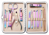 Colored manicure kit pedicure tools beauty tools 15items facial care tools pedicure kit beauty accessories