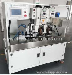 Terminals crimping machine for 4 terminals