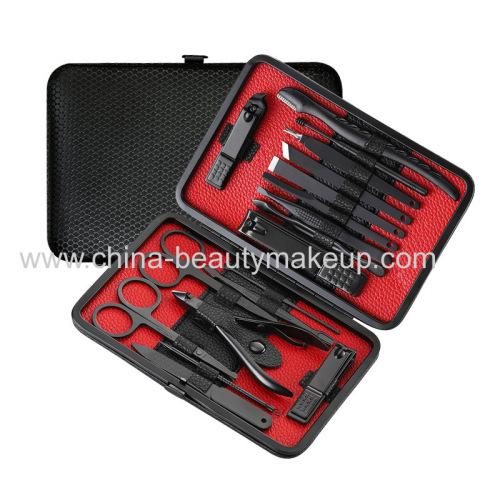 High quality stainless steel manicure kits pedicure suits nail care tools facial care tools beauty accessories