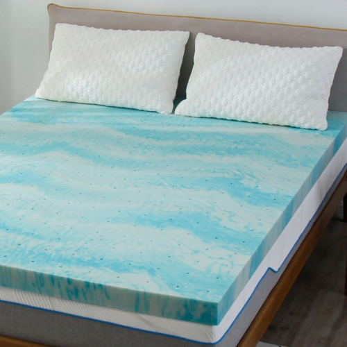 Custom Full Queen Size Cooled Gel Infused Memory Foam Mattress Bed Topper