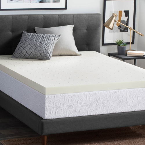 Comfort Sleep Home Use Compress Gel Infused Memory Foam Mattress Topper Rolls In A Box