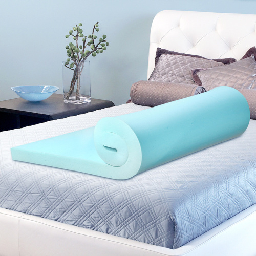 Cool Gel Memory Foam Mattress Topper Feel Comfortable Summer-using Roll packing