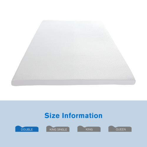 Healthy bamboo cover memory foam mattress topper