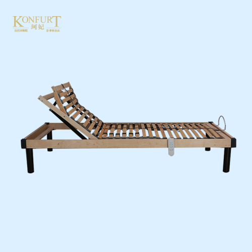 Wooden slats adjustable bed