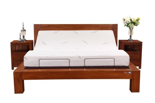 King size wooden frame adjustable beds