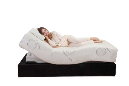 Custom electric wireless handset memory foam latex adjustable mattress