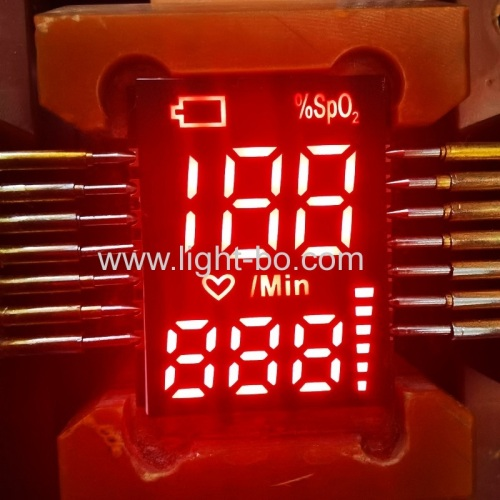 Ultra thin SMD 7 Segment LED Display common cathode for Pulse Oximeter