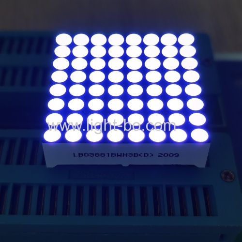 Ultra bright white 3mm 8 x 8 Dot Matrix LED Displays for moving signs/elevator position indicator