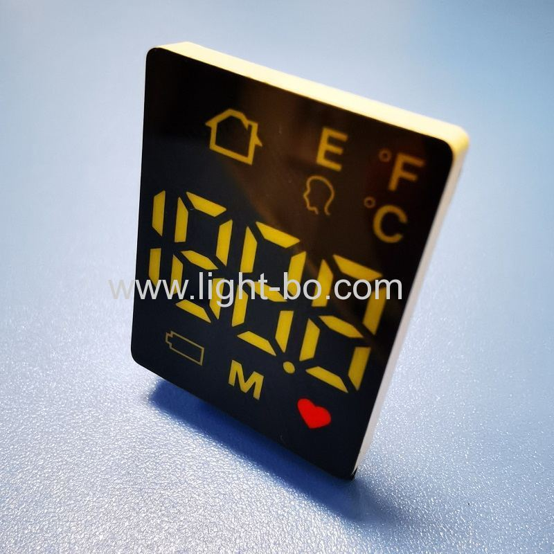 hot sales 3 pins ultra weiß / rot smd led display gemeinsame anode für stirnthermometer