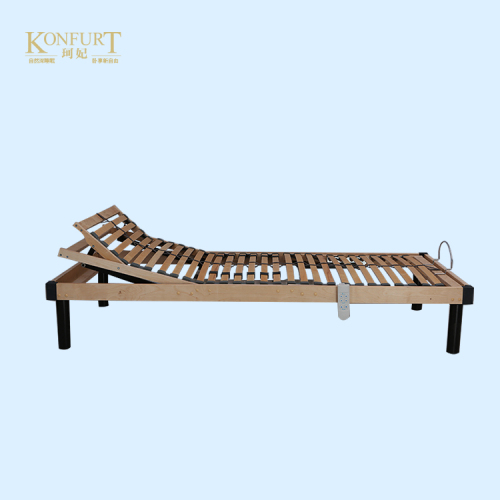 Factory Direct Portable Wooden Slat Bed Adjustable Bed Best Bed Base Healthy Wooden Electric Adjustable Bed
