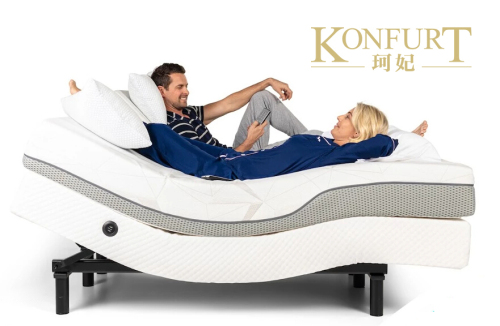Adjustable bed with memory foam mattress