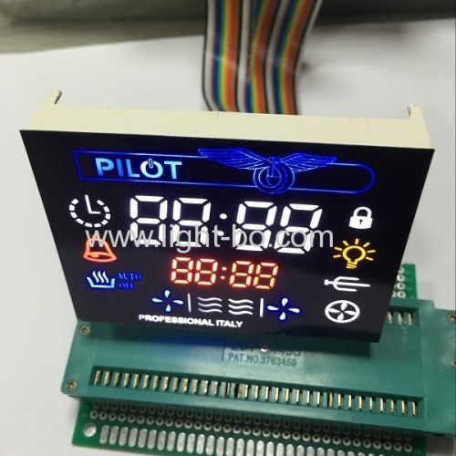 Customized multicolour 7 Segment LED Display Module for multifunction Oven Timer