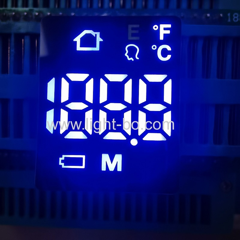 Ultra bright white Customized Ultra thin 7 Segment LED Display for Forehead Thermometer