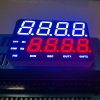 Customized Ultra white / Ultra Red Dual line 4 + 4 Digits 7 Segment LED Display for Instrument Panel