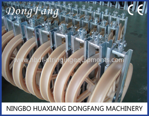 OPGW pulleys for stringing OPGW cable or single conductor