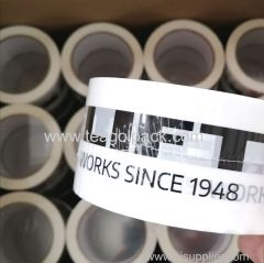Packing Tape 50mmx66M White with Customized Black Printing