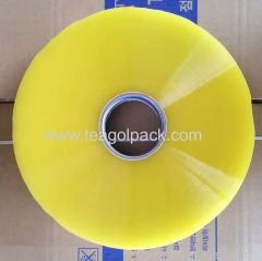 Transparent Yellow 45micX144mmX1035M Jumbo BOPP Packing Tape